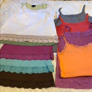 Tank tops and cami's, BKE, Express, Kira, etc